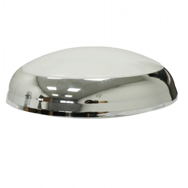 LED ready 2D Polo Fitting with silver/chrome bezel