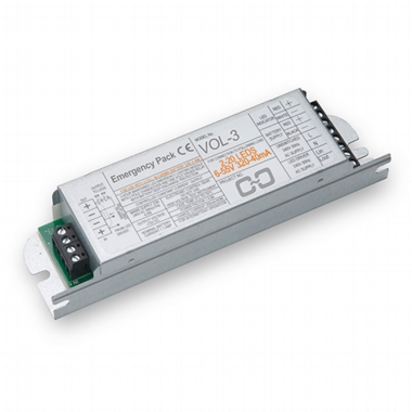 Emergency driver and battery for T5 LED Tubes