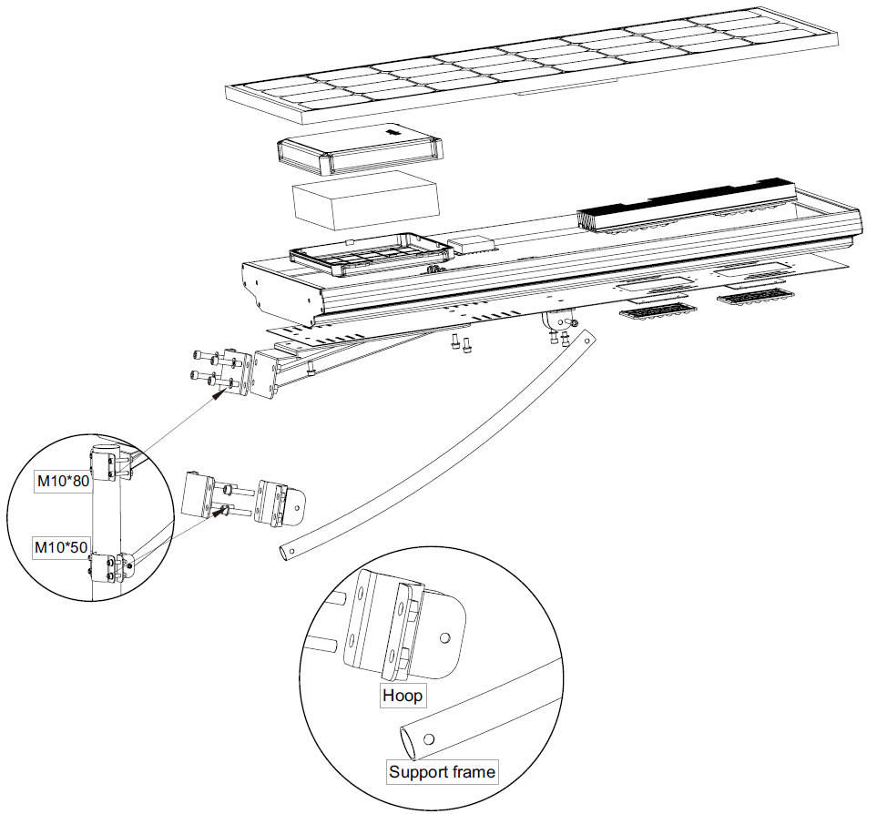 solar street light diagram  cheap all in one outdoor
