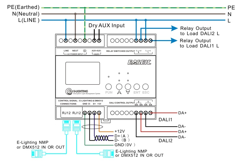 dali bus management module 2x 64channels voltacon rh ledison led lights co uk Electronic Ballast Wiring Diagram dali lighting control wiring diagram