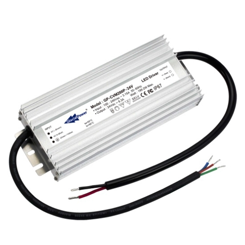 12 T5 6 Lamp High Low Bay Lights For Metal Building: Glacial LED Driver 12V 200 Watt. Constant Voltage